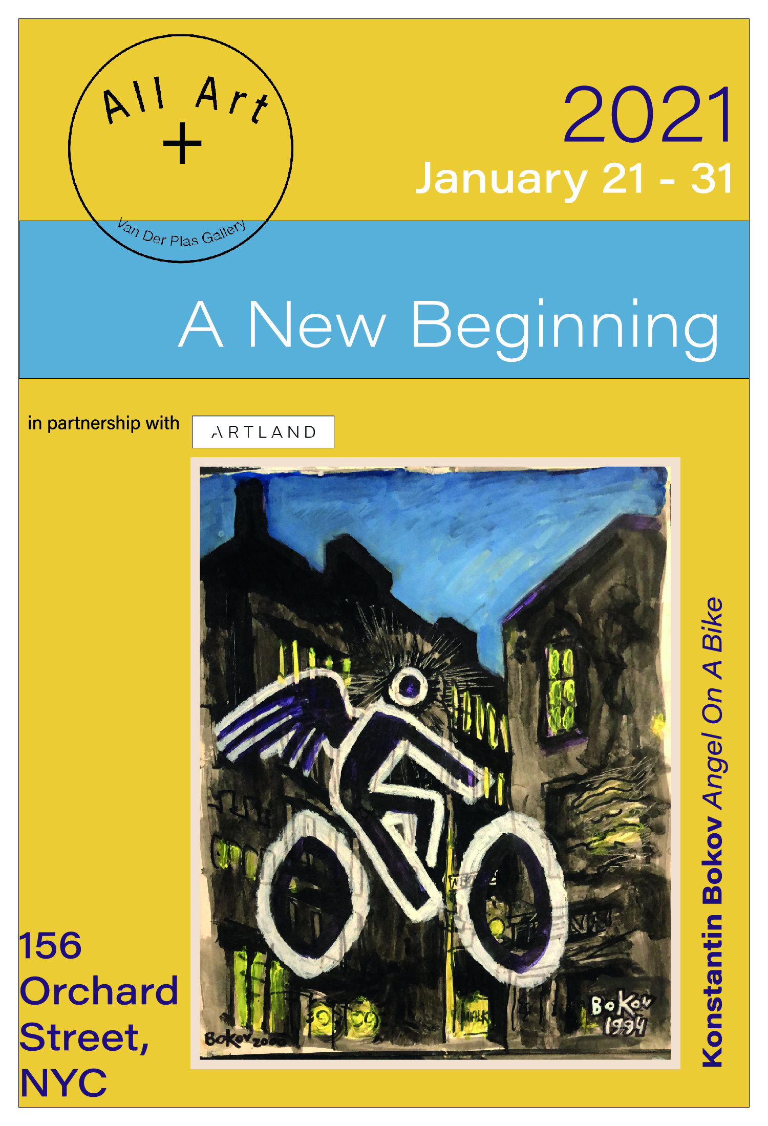 Rosalind Keith - A New Beginning 2021 - Gallery Van Der Plas nel Lower East Side di New York